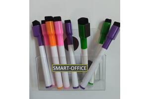 Подставка под маркеры прозрачная на магните для белой магнитно-маркерной доски или черной грифельной