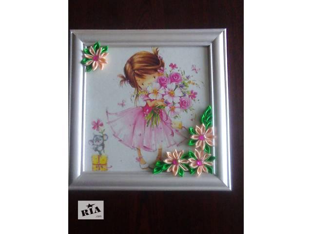 продам Картина в детскую комнату Девочка с цветами бу в Киеве