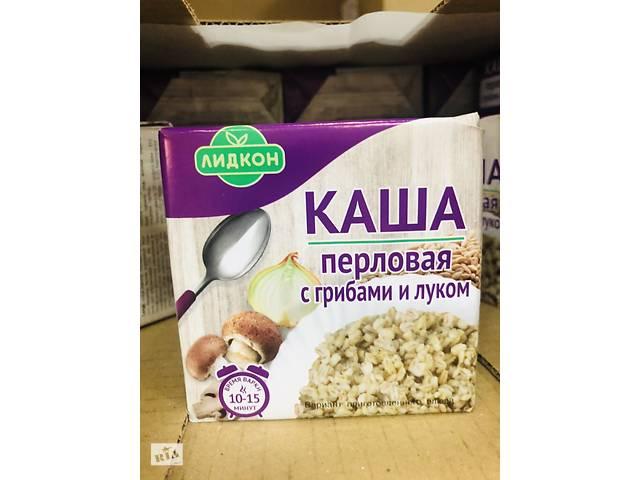 купить бу Каша перловая «Лидкон» с грибами и луком, 180 г. Страна производства:Беларусь в Стрые