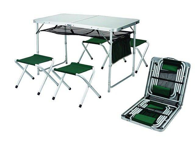 продам Кемпинговая мебель. Столы туристические + 4 стула. Набор мебели. новый  бу в Виннице