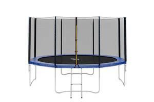 Батут с лестницей и защитной сеткой Profi MS 0822 диаметр 366 см