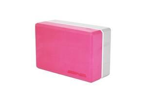 Блок для йоги двухцветный SportVida Pink/Grey SKL41-277655
