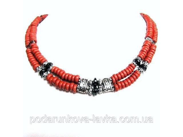 купить бу Бусы, браслет, серьги - рыжая керамика, гематит в Киеве