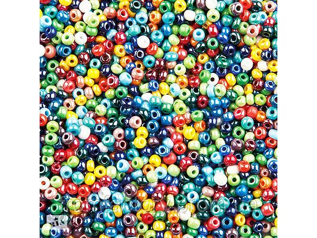 купить бу Бисер 100 грамм (КРУПНЫЙ 6/0) набор всех цветов 82шт. в Харькове