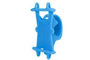 """Тримач для смартфона силіконовий BC-B711 універсальний 4""""-5,5"""" блакитний"""