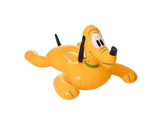 бу Детский надувной плотик Плуто Bestway 117х107 см желтый. Круг для купания с ручкой, плотик для детей от 3 лет в Киеве