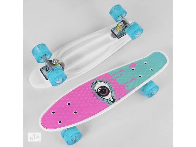 продам Детский скейт Пенни борд S 29707 Best Board со светящимися колесами и алюминиевой подвеской бу в Одессе