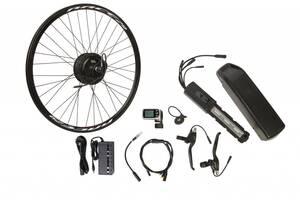 "Электро-вело-набор на раму. Мотор-колесо 24"" зад. редукт. 500Вт 48В 12.5Ач 20A встроен. контр,ручка"