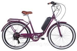 """Электровелосипед 26"""" LUX AM 350Вт 36В редуктор. дисплей, САП, 8.8Ач с крепл. на раму, 2020 (антрацитовый (м))"""