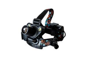 Самый яркий и мощный универсальный налобный LED фонарь на голову для рыбалки Head Lamp BL2-1001 аккумуляторный