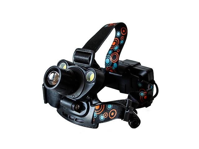 купить бу Самый яркий и мощный универсальный налобный LED фонарь на голову для рыбалки Head Lamp BL2-1001 аккумуляторный в Харькове