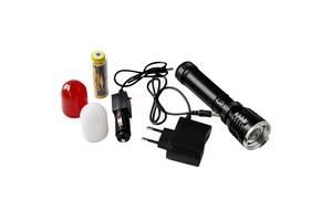 Тактический сверхмощный сверхъяркий светодиодный ручной аккумуляторный фонарь Hangli качественный zoom фонарик