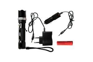 Тактический сверхмощный сверхъяркий светодиодный ручной аккумуляторный фонарь LJK качественный zoom фонарик