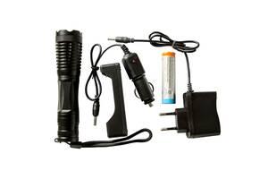 Тактический сверхмощный сверхъяркий светодиодный ручной аккумуляторный фонарь Police качественный zoom фонарик