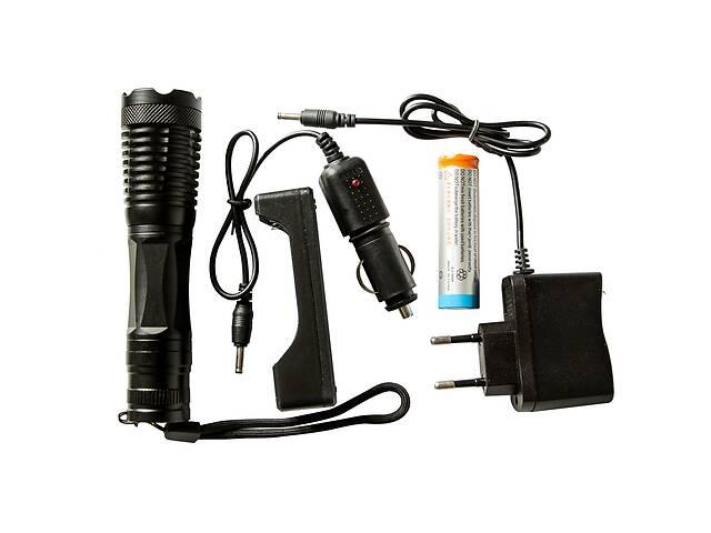 бу Тактический сверхмощный сверхъяркий светодиодный ручной аккумуляторный фонарь Police качественный zoom фонарик в Харкові