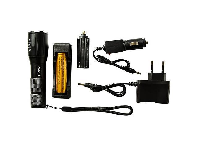 продам Тактический сверхмощный сверхъяркий светодиодный ручной аккумуляторный фонарь Police качественный zoom фонарик бу в Харкові