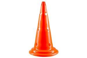 Фішки конуси World Sport розмічальні з отворами помаранчеві висота 50см SKL83-281884