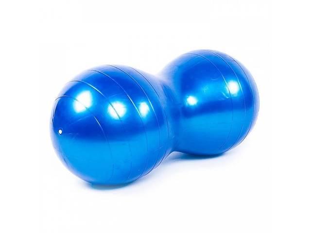 Фитбол, мяч для фитнеса, гимнастический, овальный 45х90см Profi  (MS 3233-1) Синий