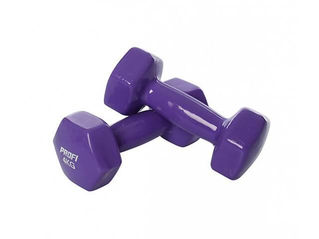 Гантель 4 кг MS 3279 с виниловым покрытием (Фиолетовый)- объявление о продаже  в Одесі