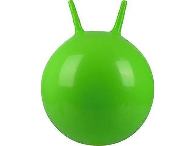 Гимнастический мяч для фитнеса (фитбол) с рожками Profi MS, диаметр - 45 см., зеленый
