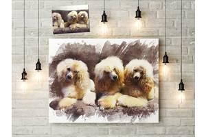 Картины по Вашим фотографиям 90х60 см стиль акварель, печать на холсте на заказ