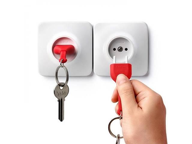 бу Ключница настенная с брелком для ключей бело-красная Таиланд 115146 в Киеве