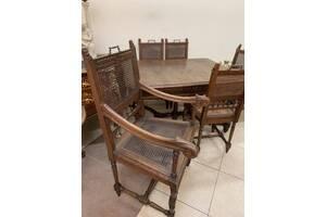 Комплект Стол раскладной + 6 стульев антикварный из Европы