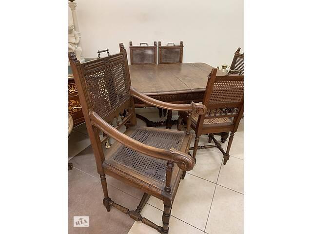 бу Комплект Стол раскладной + 6 стульев антикварный из Европы в Ивано-Франковске