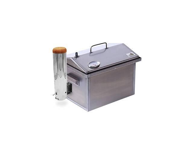 продам Коптильня горячего и холодного копчения с дымогенератором и термометром Smoke House (400х300х310) бу в Киеве