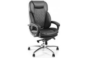 Кресло мягкое массажное офисное компьютерное для руководителя Barsky / Барски SOFT / СОФТ Leo Massage