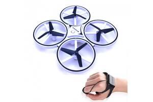 Квадрокоптер Drone 928 с перчаткой управления рукой и датчиками препятствий Белый