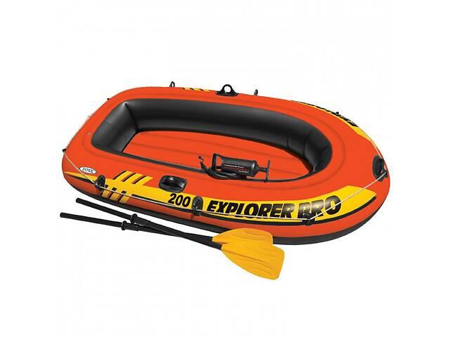 Лодка надувная Intex 58357 Explorer 200 Pro на 2 человека Красный (bint_58357)- объявление о продаже  в Києві