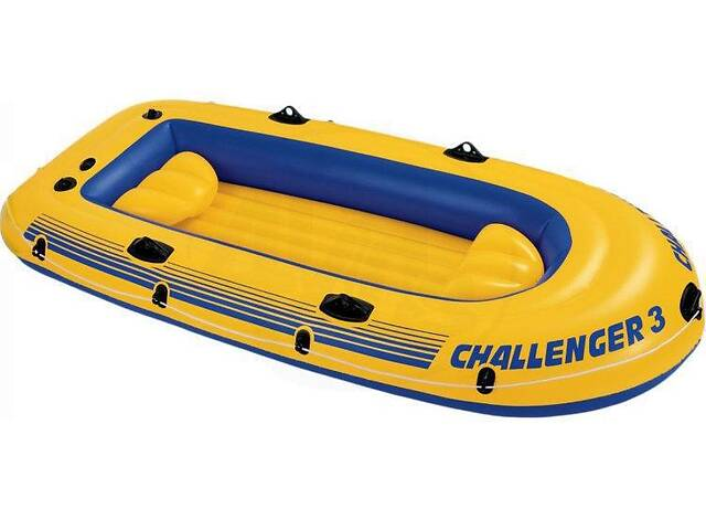 Лодка надувная Intex 68370 Challenger на 3 человека  Желтый   (68370_int)