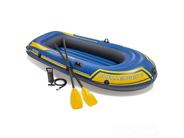 бу Двухместная надувная лодка Intex 68367 Challenger 2 Set с веслами и насосом (236*114*41 см), до 200 кг в Львові