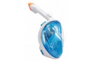 Маска для снорклинга плавания Size L-XL Blue SKL11-241274