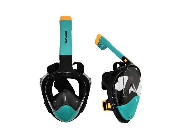 Маска для снорклинга плавания SportVida Size S/M Black/Navy Blue SKL41-277773