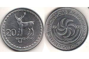 Монета 20 тетри 1993 год Грузия. aUNC. Киев
