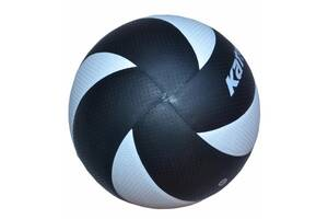 Мяч волейбольный Kata НК-8 клееный Черно-белый (spr_10067)