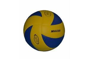 Мяч волейбольный MVA200 клееный Сине-желтый (spr_10002)