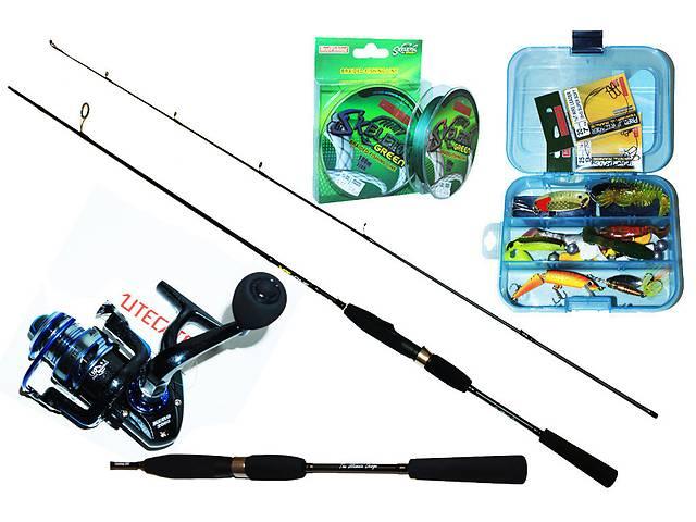 Набор для джиговой ловли хищной рыбы(спиннинг 2.40м)