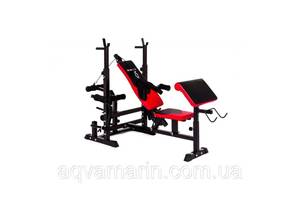 Набор Hop-Sport Strong 169 кг со скамьей HS-1075 с тягой Z и партой