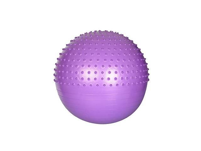 Надувной гимнастический мяч для фитнеса (фитбол) полумассажный PROFI BALL, диаметр - 65 см., фиолетовый