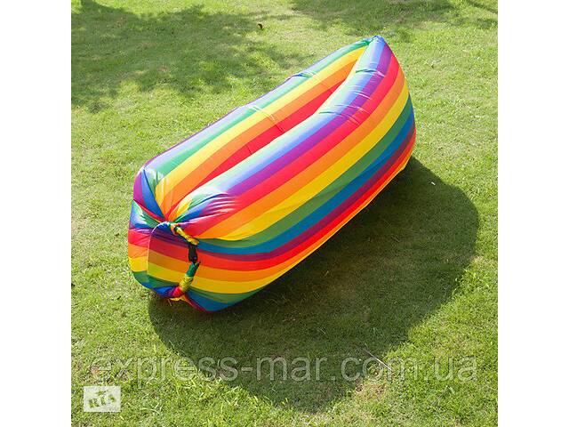 Надувной матрас Ламзаки AIR sofa Rainbow Радуга, надувной диван-шезлонг, Ламзаки-лежак- объявление о продаже  в Харькове