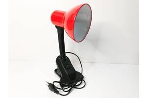 Настольная лампа на прищепке красная  (11005)