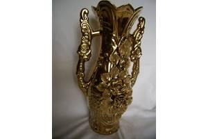 Огромная ваза СССР золотого цвета