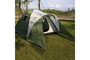 Палатка, четырех, 4, местная, двухслойная, с тамбуром, туристическая, непромокаемая, надёжная, качественная