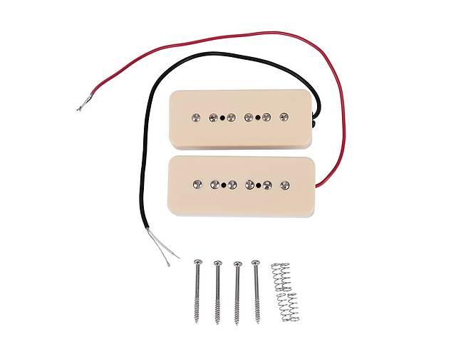 бу Пара винтажных синглов P 90 датчики Alnico для электрогитары Fender Gibson Cort Ibanes Shur LTD ESP хамбакеры в Тетиеве