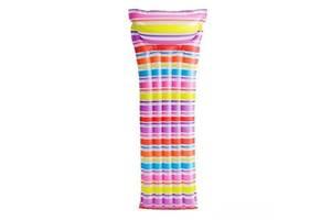 Пляжный надувной матрас с подголовником Intex 59711, 183*69 см (3 цвета)
