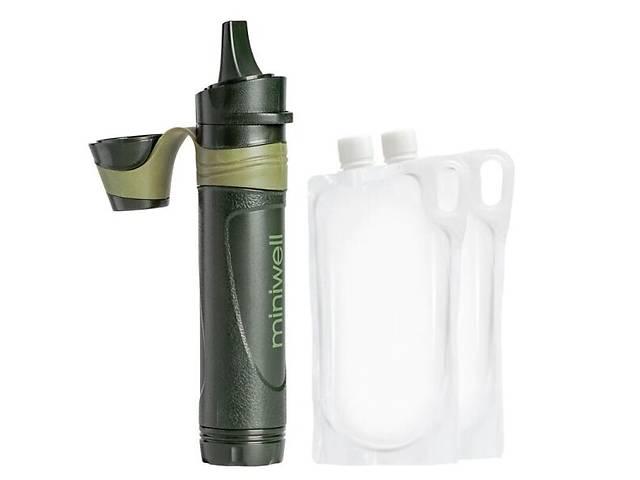 Профессиональный походный фильтр для воды туристический Miniwell L600 Зеленый (100133)