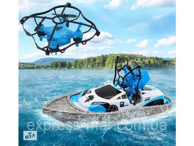 купить бу Радіокерована іграшка | Літаючий дрон | Радіокерований дрон | Катер-дрон-машинка Bolt CH405 3в1 в Харкові